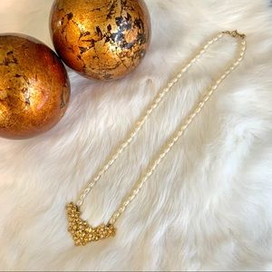 Vintage Avon Gold and Freshwater Pearl Necklace